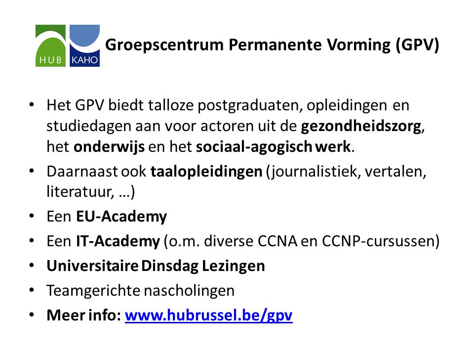 Groepscentrum Permanente Vorming (GPV)