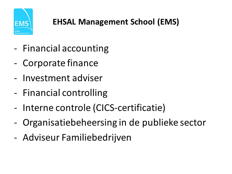 EHSAL Management School (EMS)