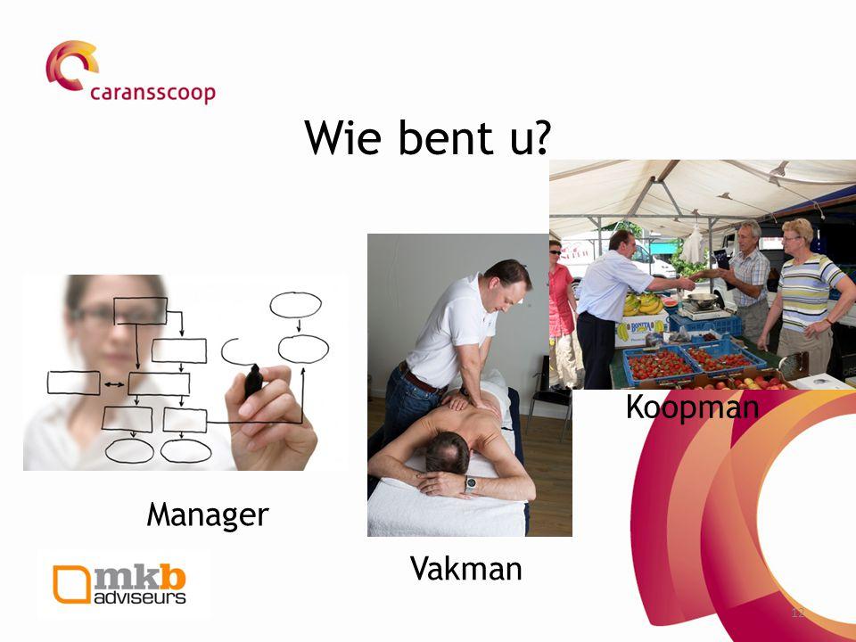 Wie bent u Koopman Manager Vakman