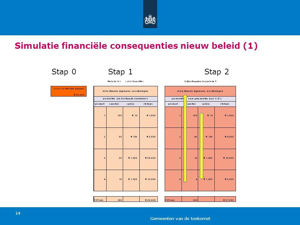 Simulatie financiële consequenties nieuw beleid (1)