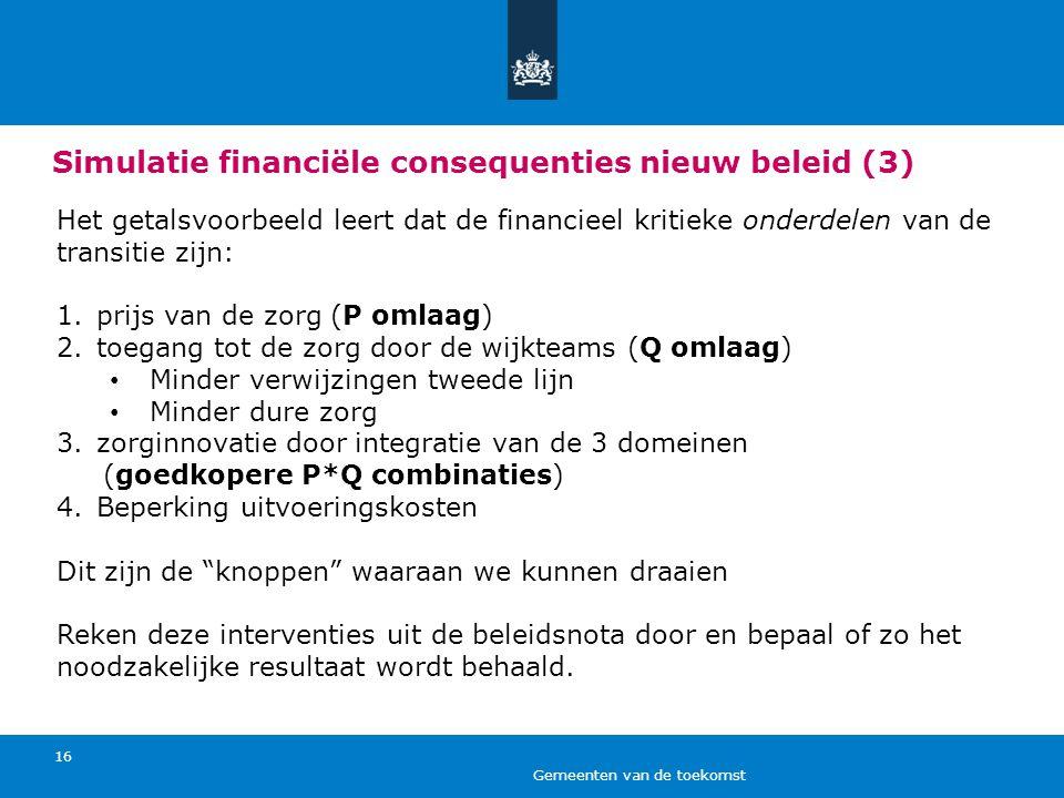Simulatie financiële consequenties nieuw beleid (3)