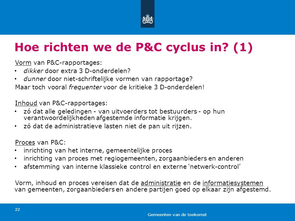 Hoe richten we de P&C cyclus in (1)