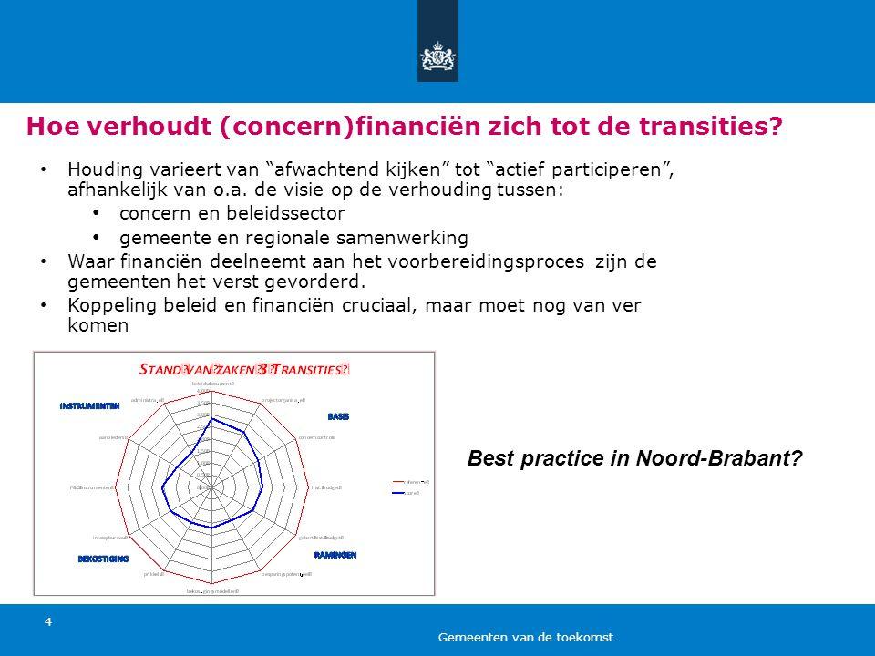 Hoe verhoudt (concern)financiën zich tot de transities