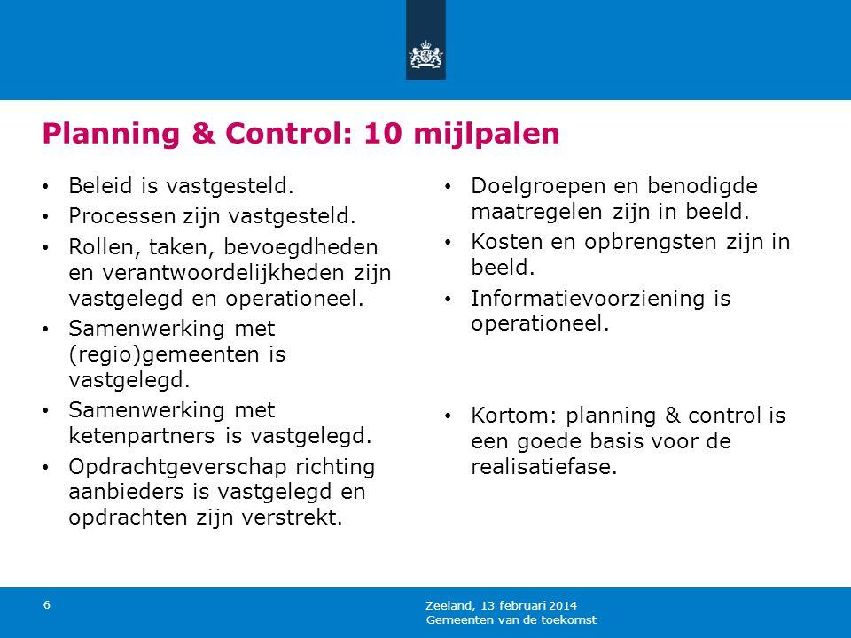 Planning & Control: 10 mijlpalen