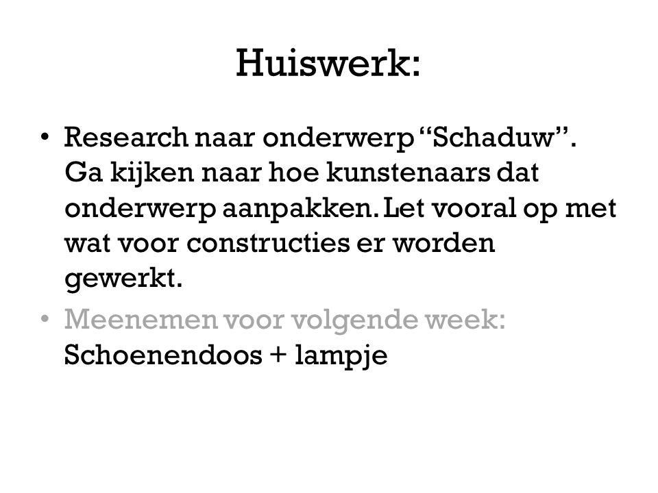 Huiswerk: