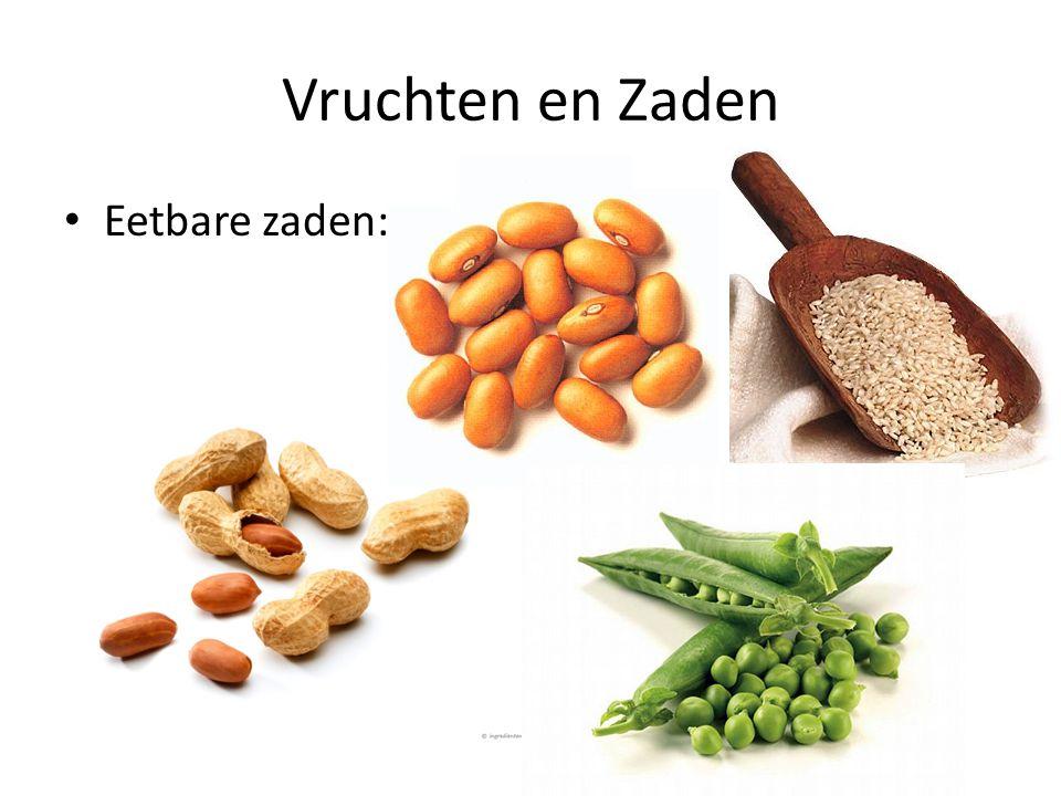 Vruchten en Zaden Eetbare zaden: