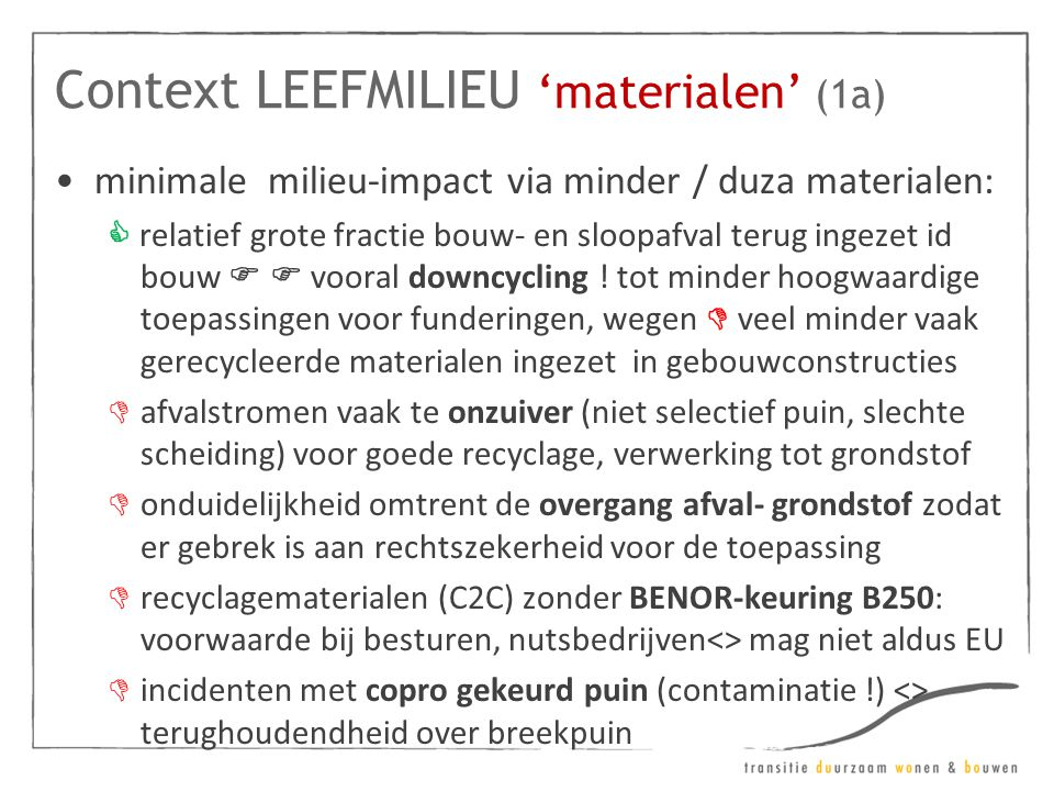 Context LEEFMILIEU 'materialen' (1a)