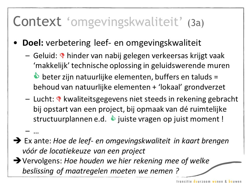 Context 'omgevingskwaliteit' (3a)