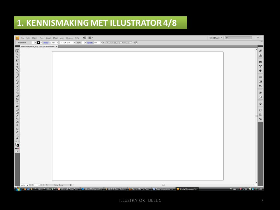 1. KENNISMAKING MET ILLUSTRATOR 4/8