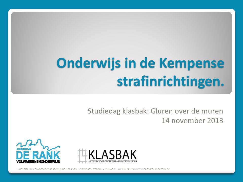 Onderwijs in de Kempense strafinrichtingen.