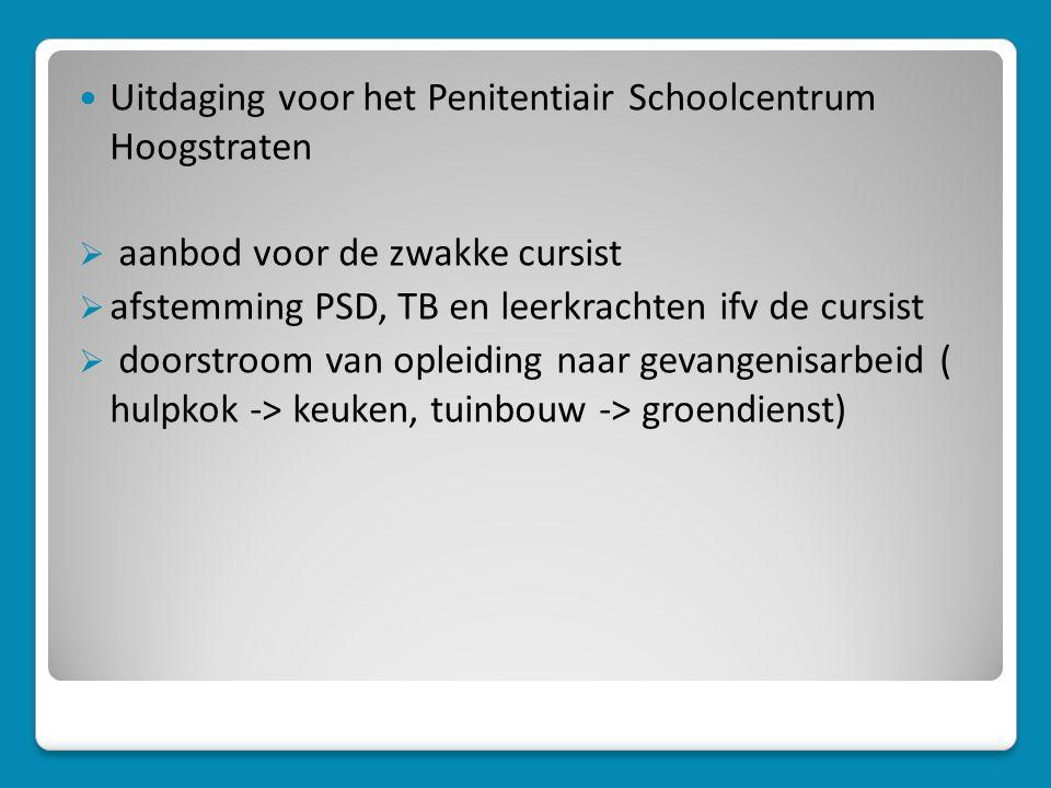 Uitdaging voor het Penitentiair Schoolcentrum Hoogstraten