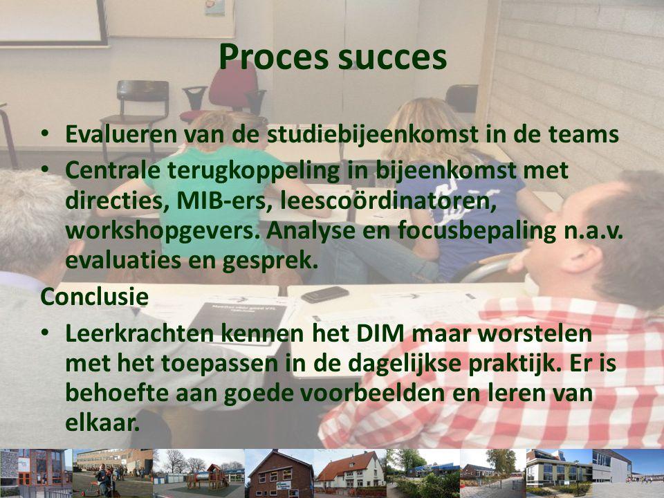 Proces succes Evalueren van de studiebijeenkomst in de teams