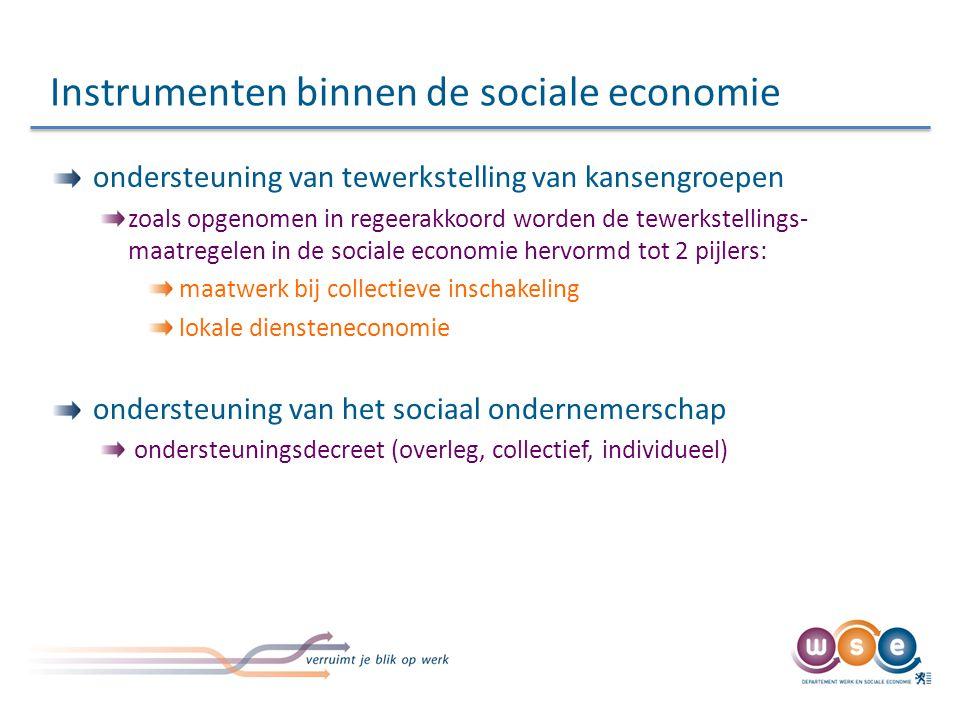 Instrumenten binnen de sociale economie