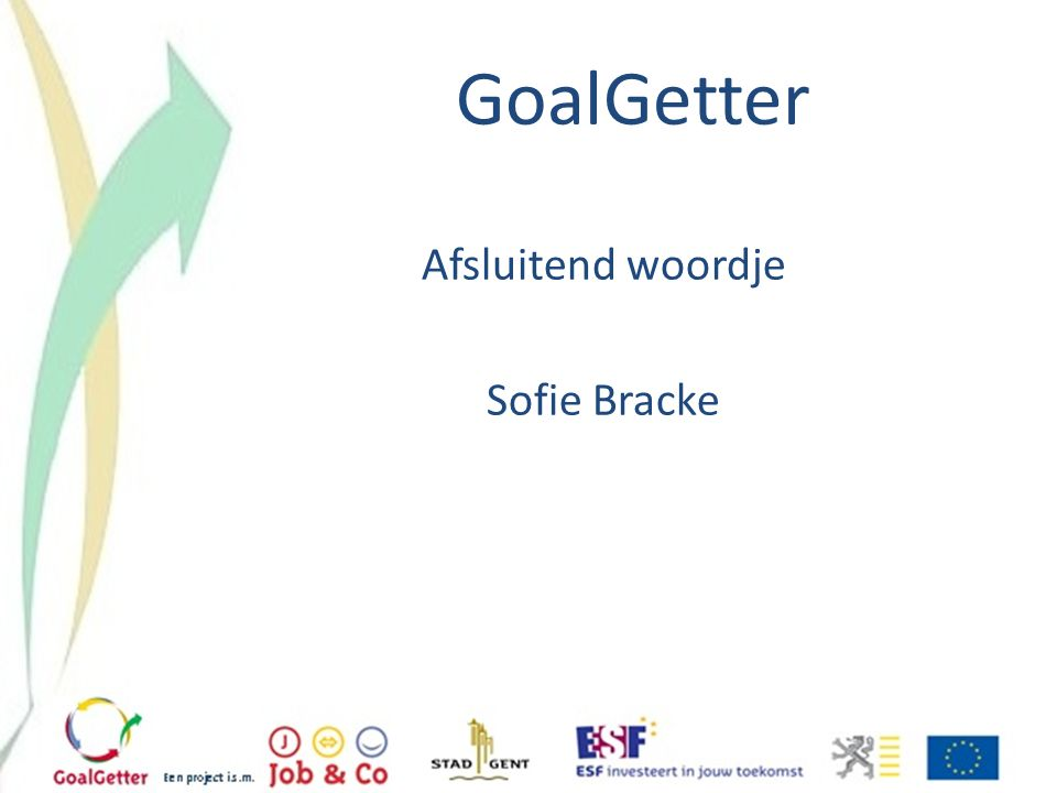 Afsluitend woordje Sofie Bracke