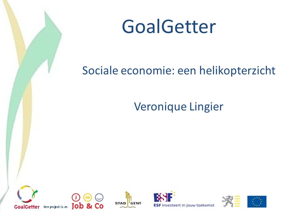 Sociale economie: een helikopterzicht Veronique Lingier