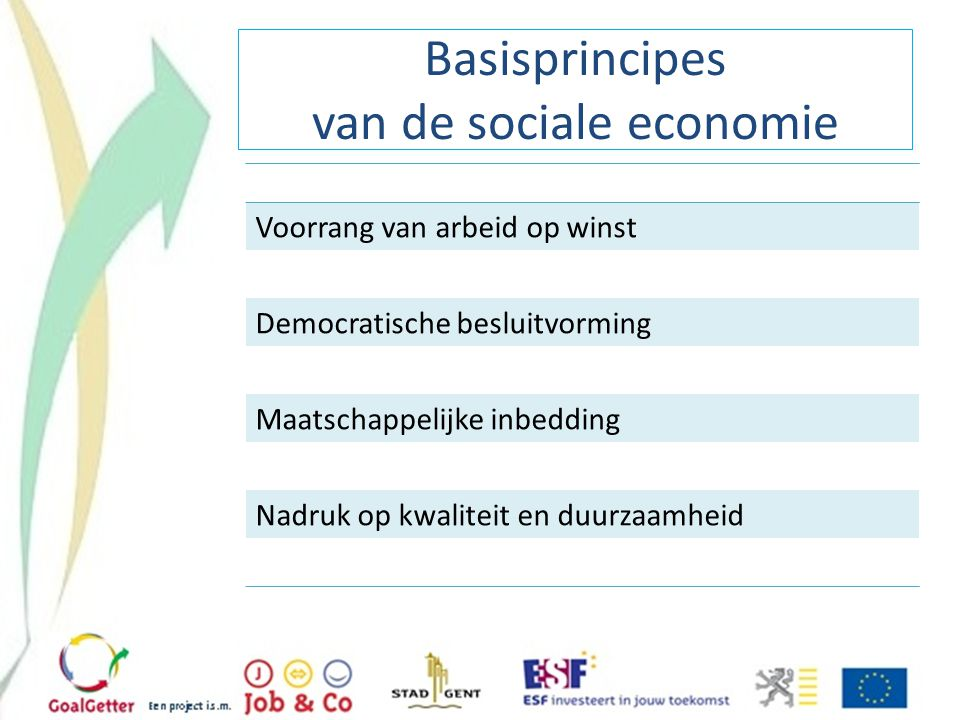 Basisprincipes van de sociale economie