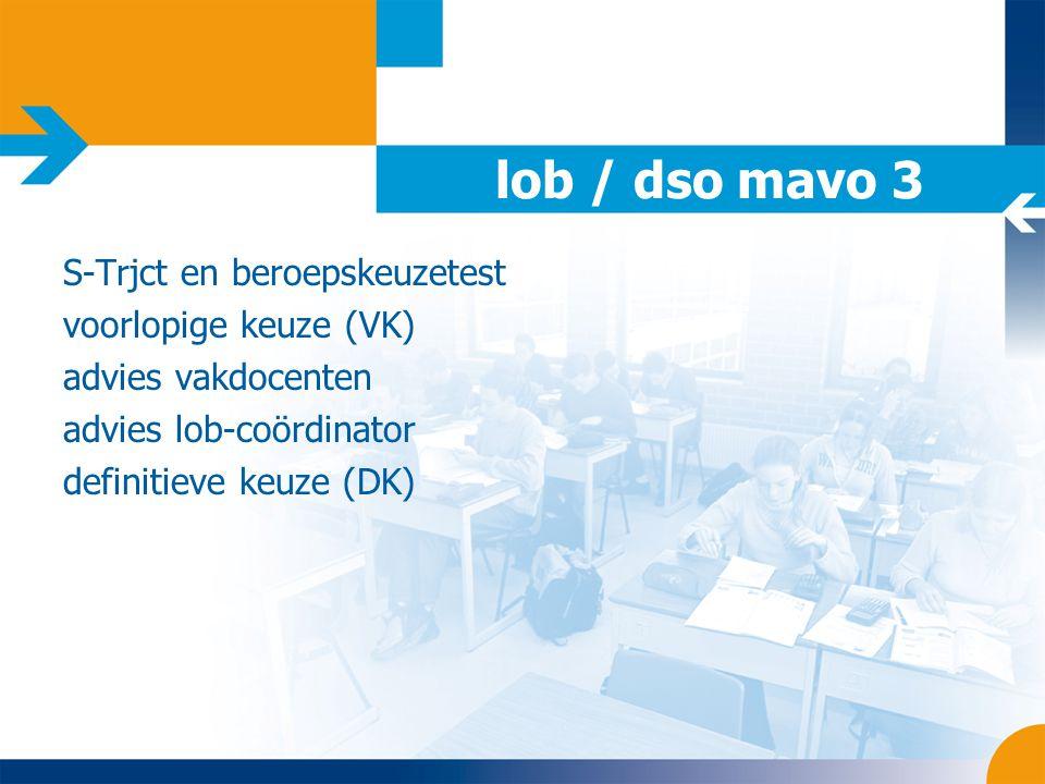 lob / dso mavo 3 S-Trjct en beroepskeuzetest voorlopige keuze (VK)