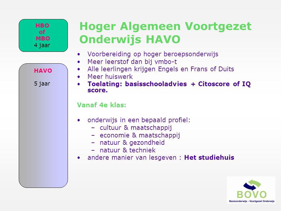 Hoger Algemeen Voortgezet Onderwijs HAVO