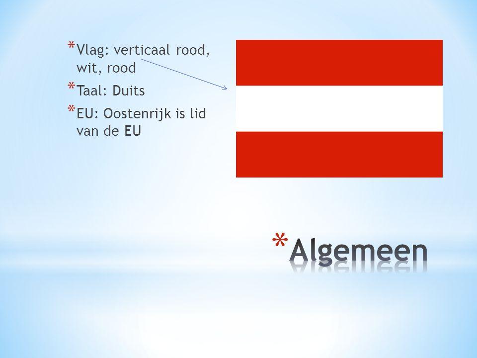 Algemeen Vlag: verticaal rood, wit, rood Taal: Duits