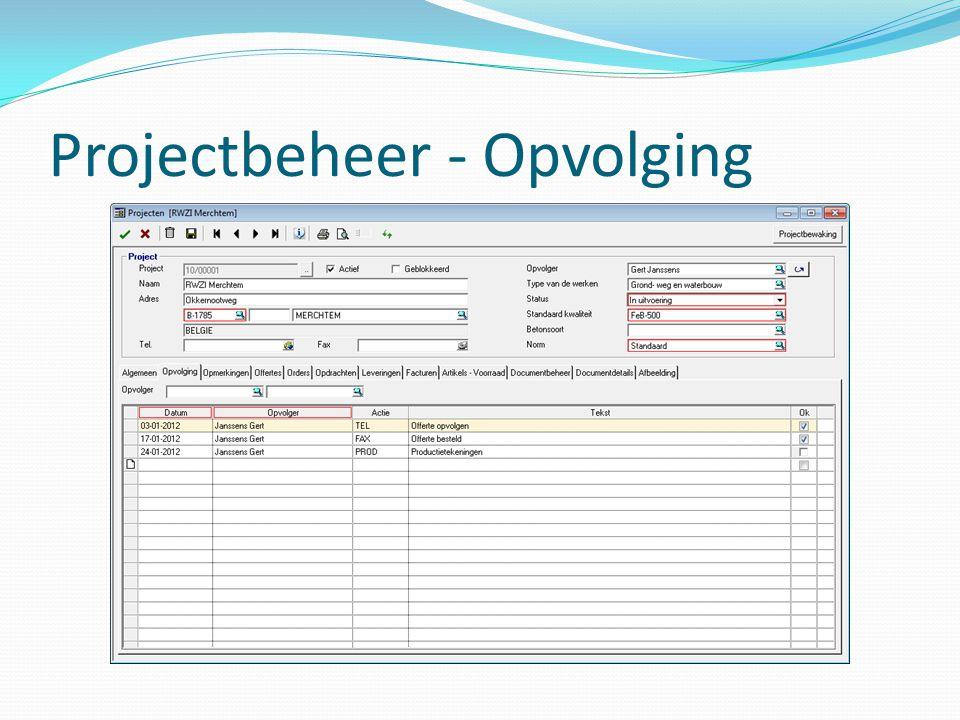 Projectbeheer - Opvolging
