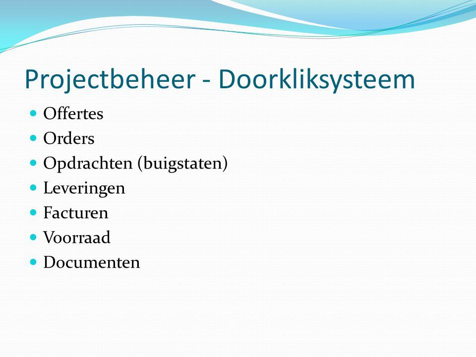 Projectbeheer - Doorkliksysteem