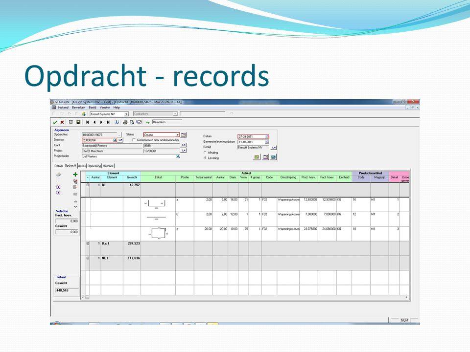 Opdracht - records