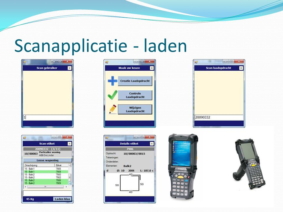 Scanapplicatie - laden