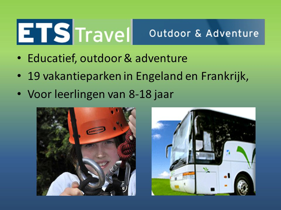 Educatief, outdoor & adventure