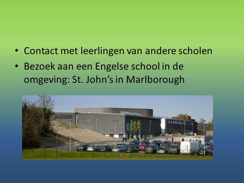 Contact met leerlingen van andere scholen