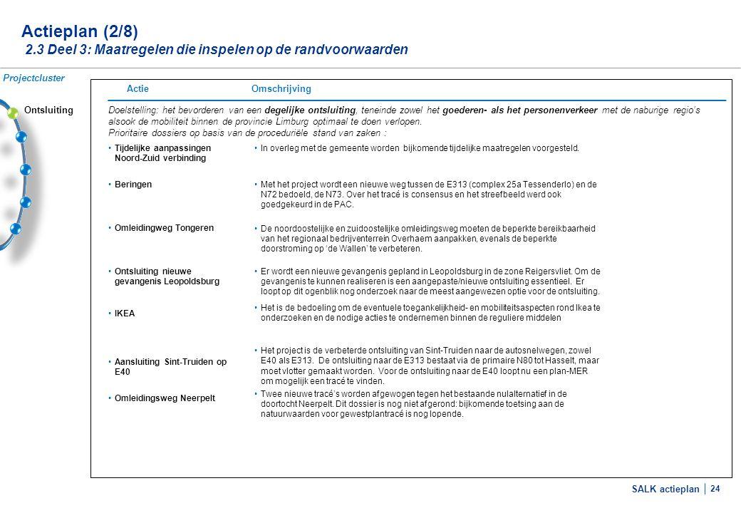 Actieplan (3/8) 2.3 Deel 3: Maatregelen die inspelen op de randvoorwaarden