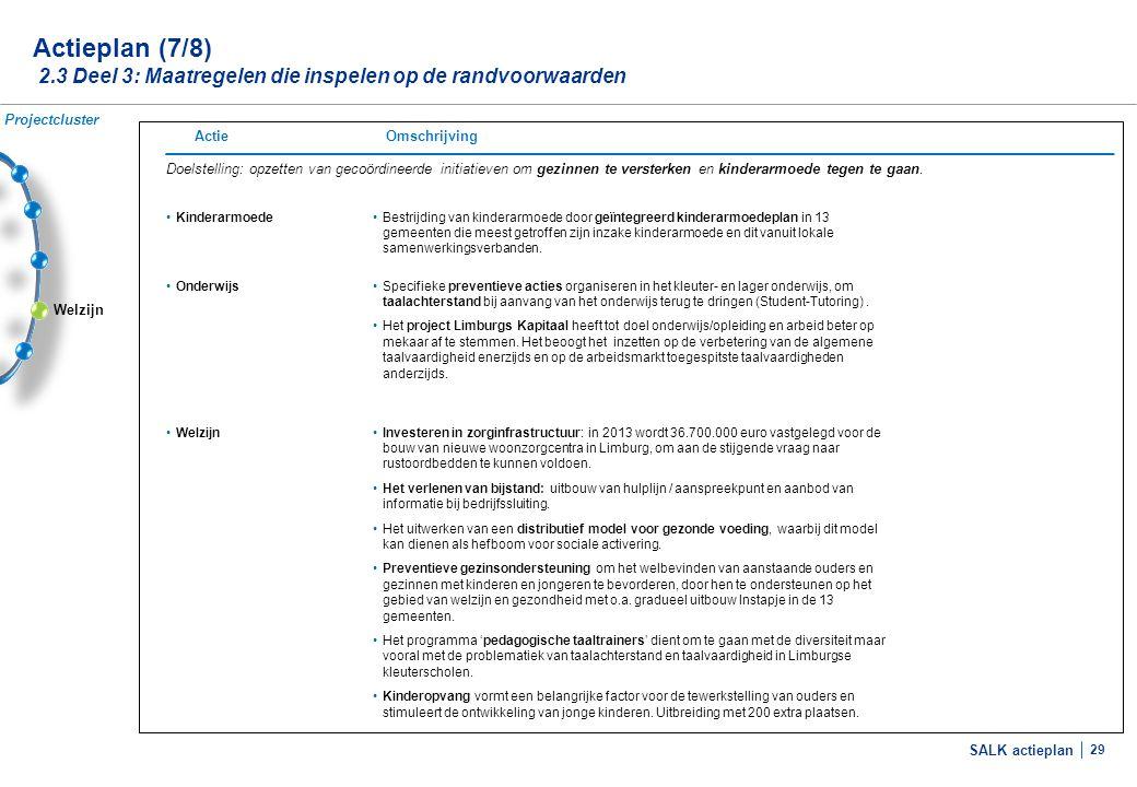 Actieplan (8/8) 2.3 Deel 3: Maatregelen die inspelen op de randvoorwaarden