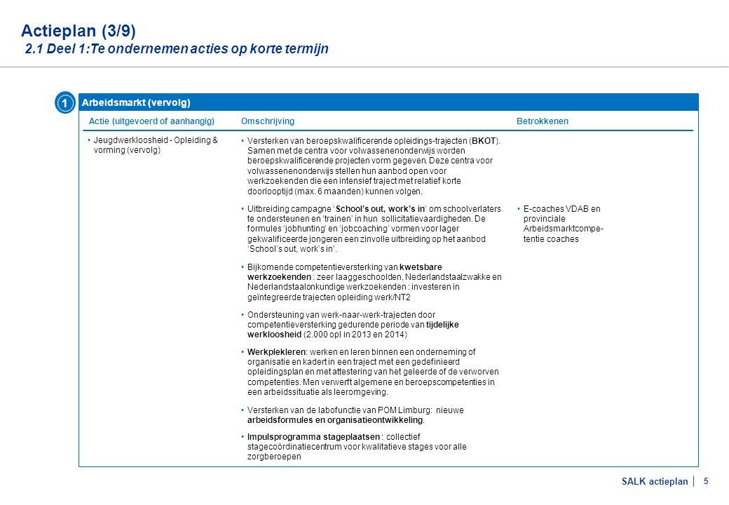 Actieplan (4/9) 2.1 Deel 1:Te ondernemen acties op korte termijn