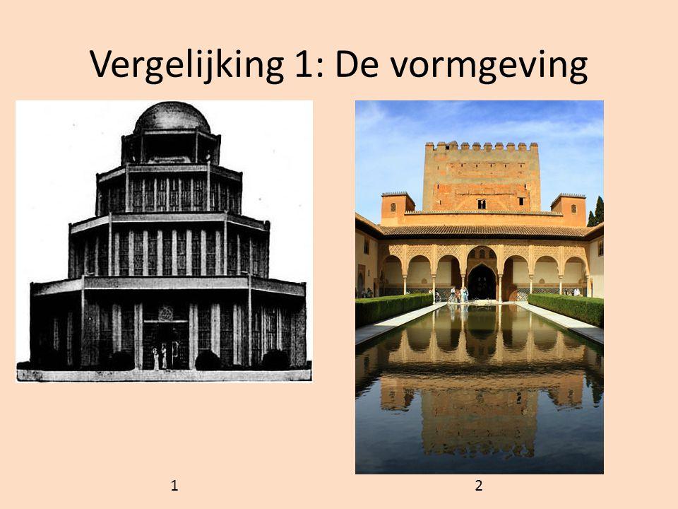 Vergelijking 1: De vormgeving