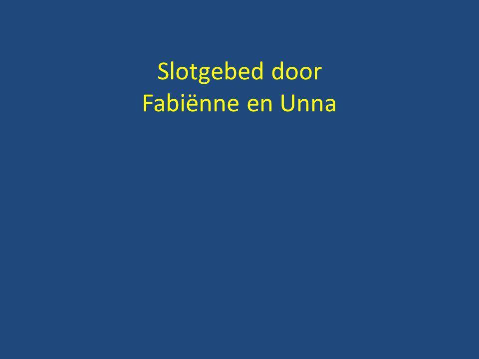 Slotgebed door Fabiënne en Unna