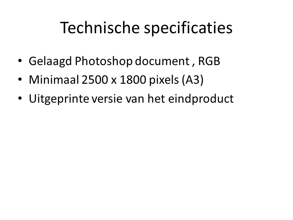 Technische specificaties