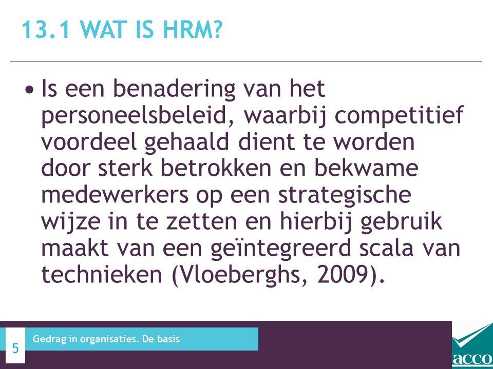 13.1 Wat is HRM
