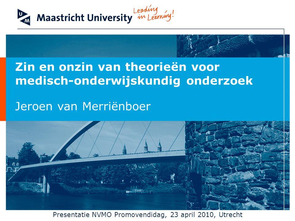 Presentatie NVMO Promovendidag, 23 april 2010, Utrecht