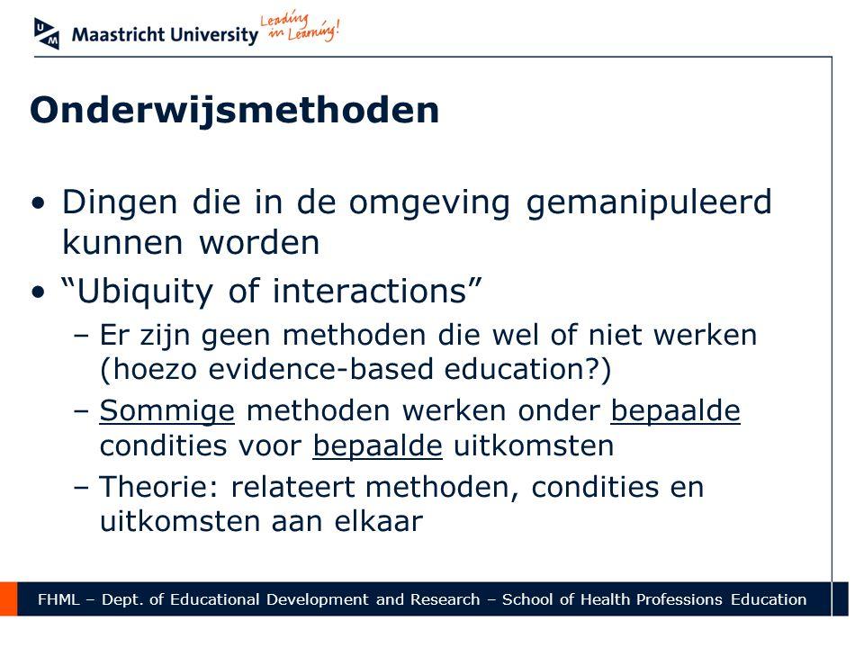 Onderwijsmethoden Dingen die in de omgeving gemanipuleerd kunnen worden. Ubiquity of interactions