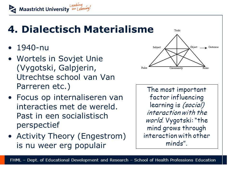 4. Dialectisch Materialisme