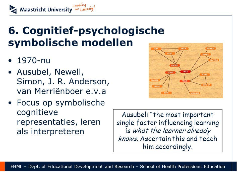 6. Cognitief-psychologische symbolische modellen