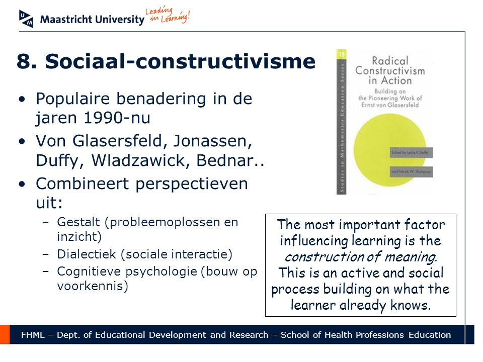 8. Sociaal-constructivisme
