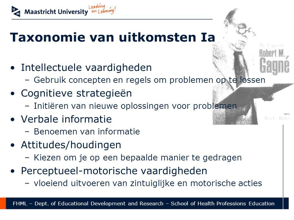 Taxonomie van uitkomsten Ia