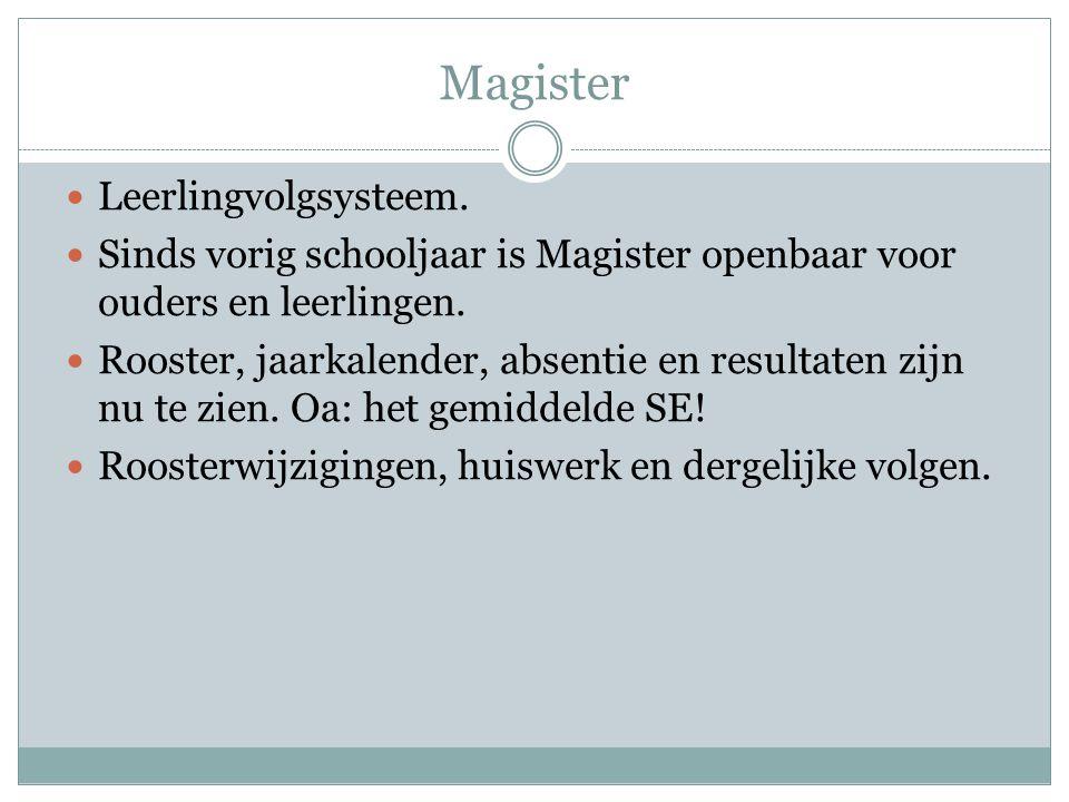 Magister Leerlingvolgsysteem.