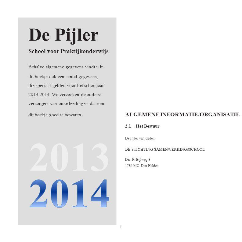 2013 2014 De Pijler School voor Praktijkonderwijs