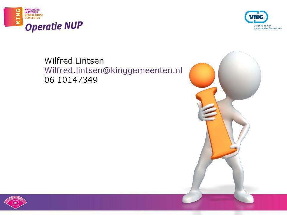 Wilfred Lintsen Wilfred.lintsen@kinggemeenten.nl 06 10147349