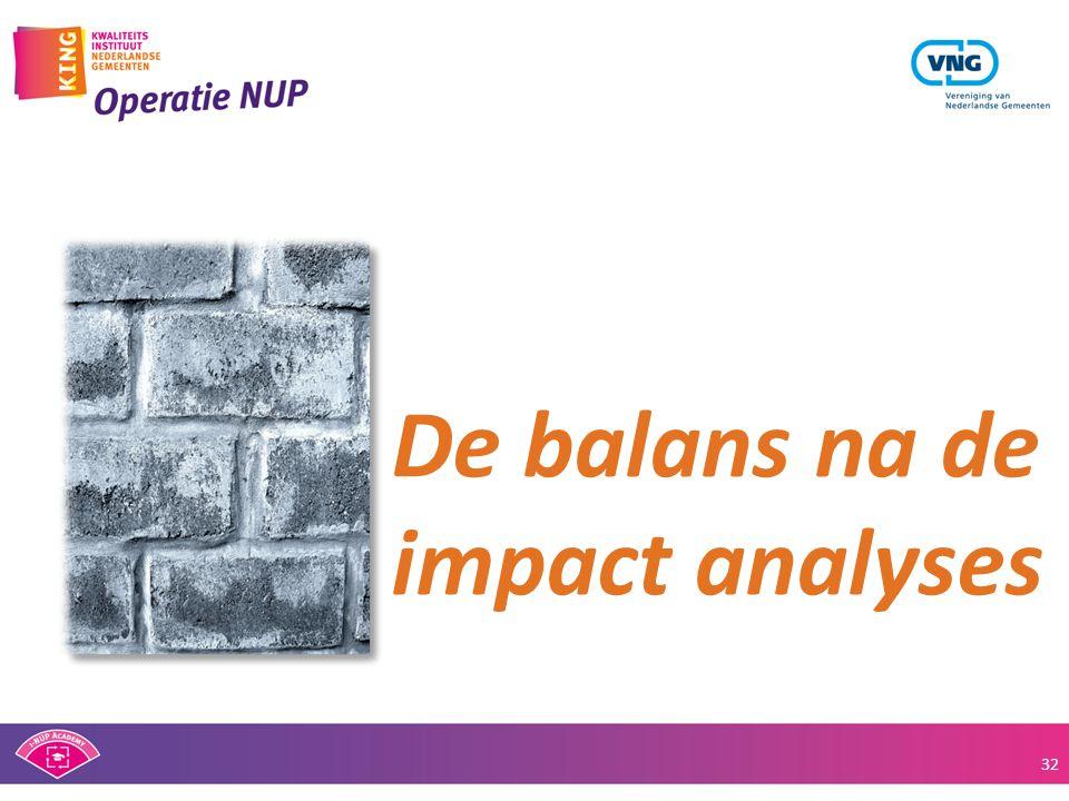 De balans na de impact analyses