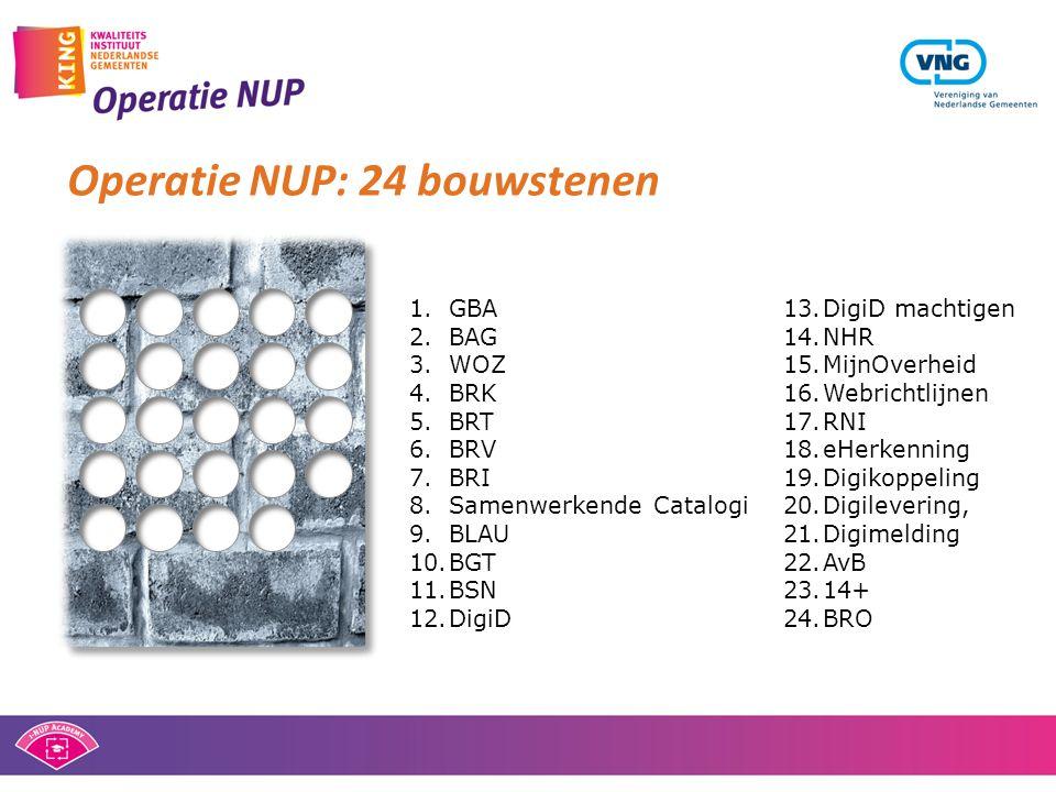 Operatie NUP: 24 bouwstenen