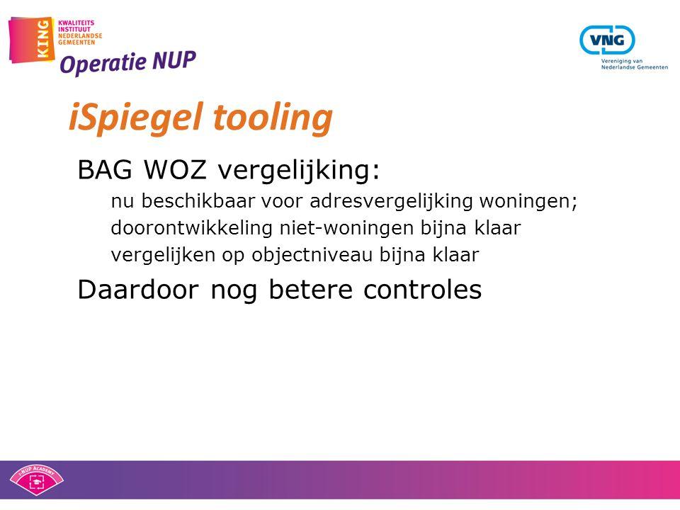 iSpiegel tooling BAG WOZ vergelijking: Daardoor nog betere controles