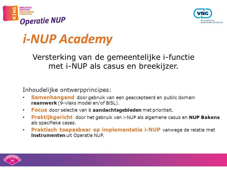 i-NUP Academy Versterking van de gemeentelijke i-functie