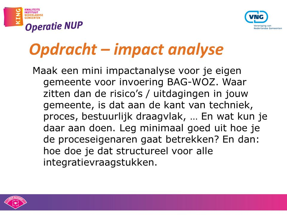 Opdracht – impact analyse